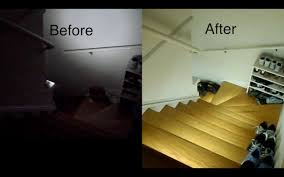 led strip lights for stairs diy strip light stair lighting design and install stair lighting