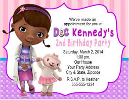 doc mcstuffins birthday doc mcstuffins birthday party invitations personalized custom