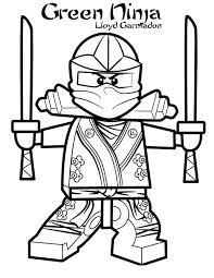 Coloriage Le Ninjago Vert Lloyd Garmadon dessin gratuit à imprimer