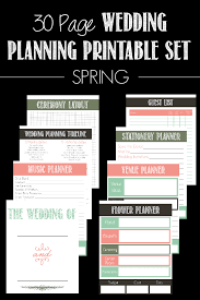 downloadable wedding planner 30 page wedding planning printable set bread booze bacon
