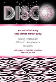zebra stripes disco free printable birthday invitation template