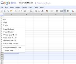 insert multiple rows anywhere in a google docs spreadsheet