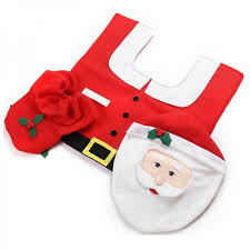 Santa Claus Rugs 3pcs Set Santa Claus Toilet Seat Cover And Rug Bathroom Set