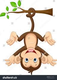 cute baby monkey hanging on tree stock vector 361764071 shutterstock
