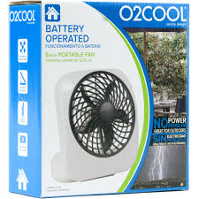 battery powered extractor fan o2cool 5 inch portable fan gray walmart com