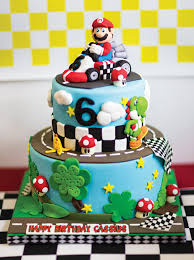 mario birthday cake mad dash racing mario kart birthday party hostess with the mostess