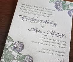Letterpress Invitations Spring Floral Letterpress Wedding Invitation Gallery Laura