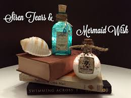 siren tears u0026 mermaid wish diy potion bottles halloween prop