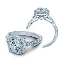 twisted shank engagement ring verragio twist shank halo engagement ring
