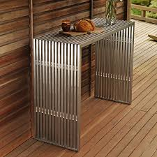 Metal Console Table Steel Console Table Outdoor Dining Novel Collection