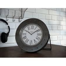 Small Desk Clock Silver Desk Clock Wayfair