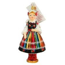 center lowicz dancer ornament 5 25