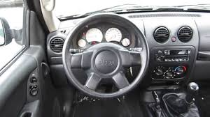 jeep white liberty 2004 jeep liberty black stock b2321 interior youtube