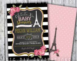 parisian baby shower baby shower invitations marialonghi