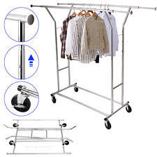 commercial double garment rack hanger holder grade collapsible