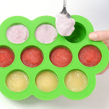 silicone cuisine weesprout baby food storage silicone freezer tray with clip on