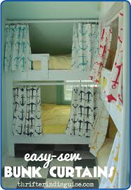 a thrifter in disguise easy sew diy bunk bed curtains cool kids bunk beds