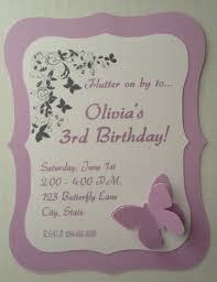 butterfly birthday baby shower invitations set of 25 butterfly
