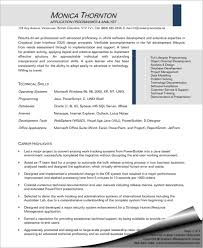 Sample Resume Application by Programmer Analyst Resume Sample Sharon Graham