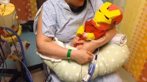 dad builds iron man halloween costume for sick newborn son 6abc com
