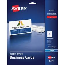 Avery Template For Business Cards Inkjet Microperforated Business Cards Walmart Com