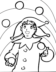 clown clipart image clown juggling coloring juggling easter