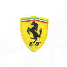 ferrari badge ferrari shield embroidered patch 35x45mm emblem brand logo mark