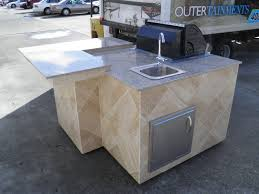 outdoor kitchen island with sink u2014 interior u0026 exterior doors