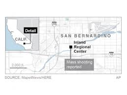 san bernardino ca map 2 suspects killed after san bernardino mass shooting abc
