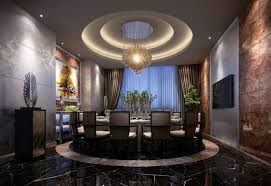 3d model luxury dining room with round table cgtrader
