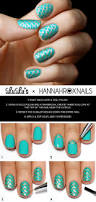 mani monday teal and gold mermaid nail tutorial lulus com