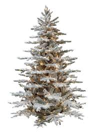 layered lucerne flocked artificial trees treetime