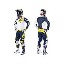 blue motocross gear fox 180 race se motocross jersey white yellow 2016 mxweiss