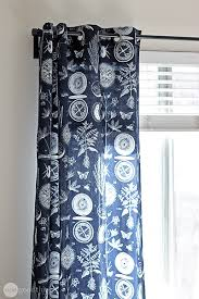 How To Measure For Grommet Curtains Make Your Own Grommet Curtains In An Afternoon One Good Thing By