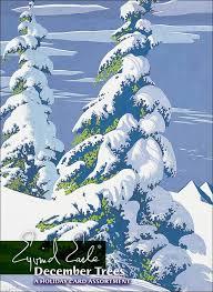 eyvind earle christmas cards december trees assortment jpg