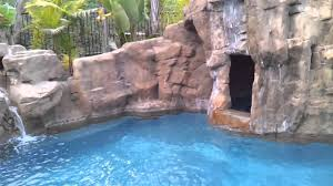 rock waterfall pool with bbq island mp4 youtube