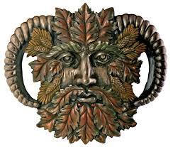 greenman fall plaque fantasy designer decoration collectible