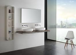 mensola lavabo da appoggio encimera suspendida smart line nocciola larghezza selezionabile
