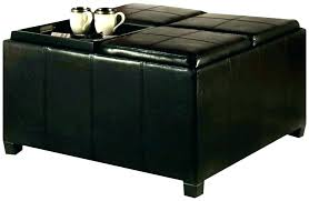 Leather Top Ottoman Ottoman With Flip Top Tray Decoration In Storage Ottoman With Tray