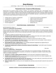 Resume Free Samples by Transportation Resume Examples