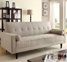 Sofas With Pillows by Acme Furniture Edana Sand Linen Adjustable Sofa With 2 Pillows