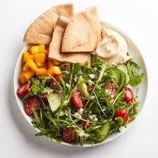 hummus u0026 greek salad recipe eatingwell