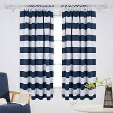 Blue Striped Curtains Navy Striped Curtains Ebay