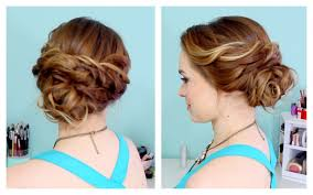 Quick Easy Hairstyles For Girls by Quick Side Updo For Prom Or Weddings D Youtube