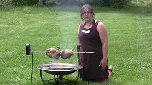 Cooking Over Fire Pit Grill - easy bbq rotisserie chickens with the campfire cooking combo youtube