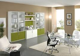Office Ideas For Work Captivating Pastel Green Contemporary Home Office Ideas