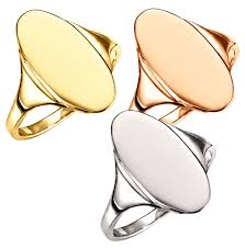 large ladies rings images Woman 39 s large solid back oval signet rings in 14k gold 1168 gif