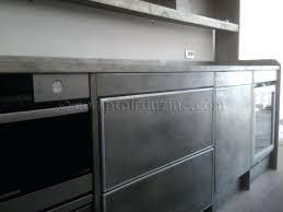 meuble cuisine zinc meuble cuisine zinc idée de modèle de cuisine