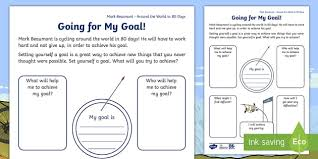 ks1 around the world in 80 days personal goal setting challenge