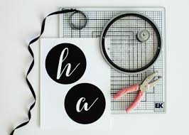 how to make a halloween banner how to make a chic black and white halloween banner how tos diy